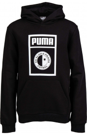 Puma Graphic Child Black Hoodie