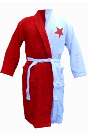 Red and White Bathrobe